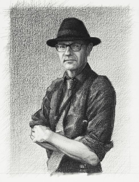 "Charles Charcoal on Paper 5"" x 4"""