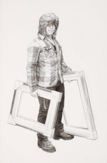 """Josh Pencil on Paper 9"""" x 6"""""""