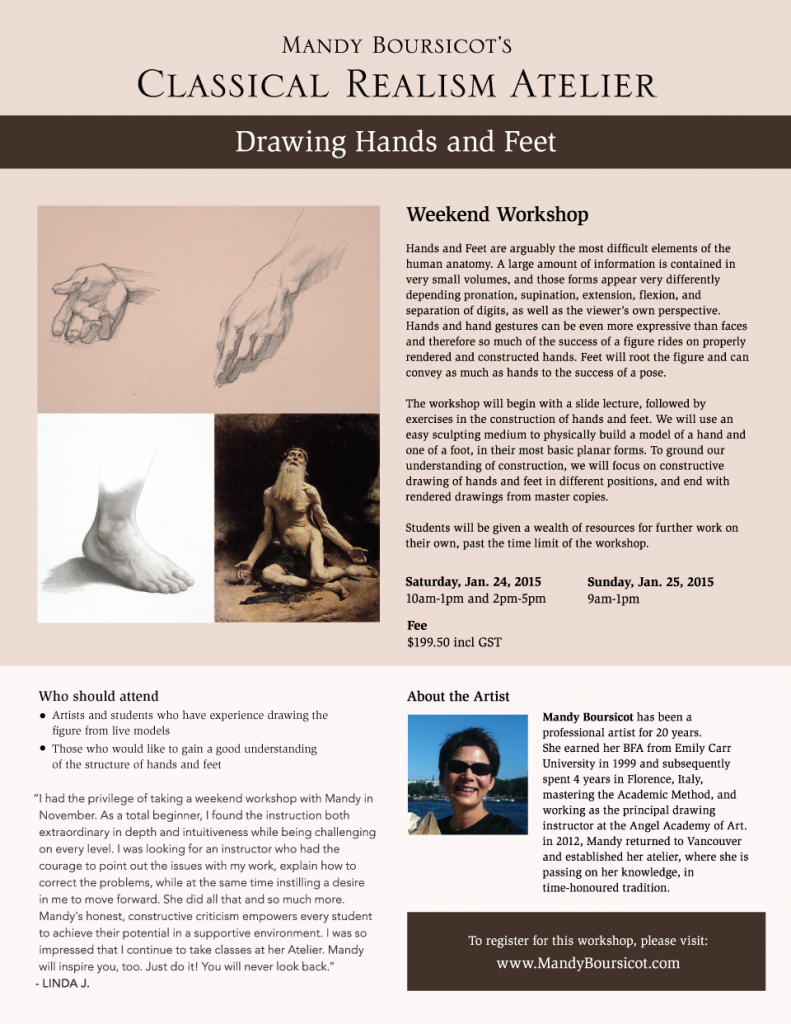 Weekend Workshop: Drawing Hands and Feet