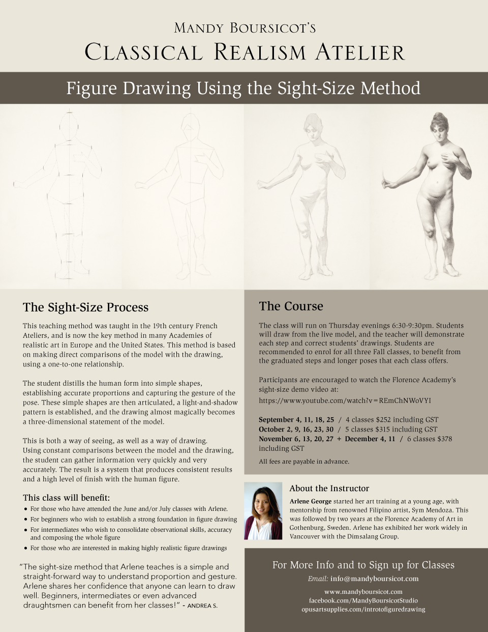 Figure Drawing Using the Sight-Size Method