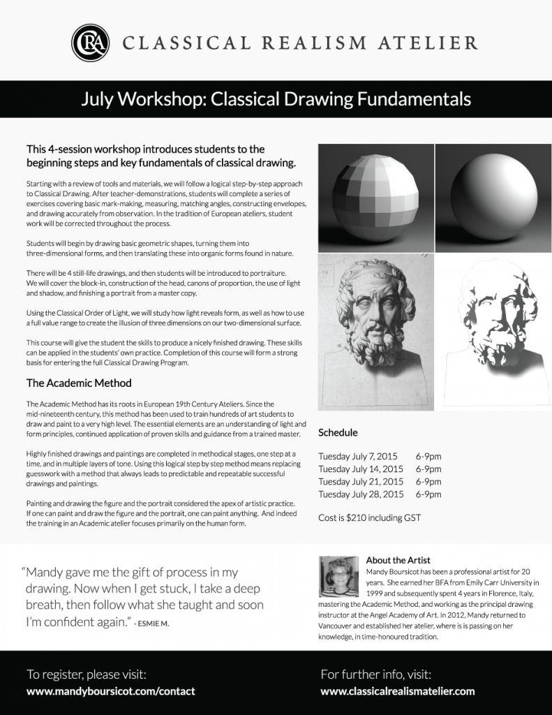 July Workshop: Classical Drawing Fundamentals