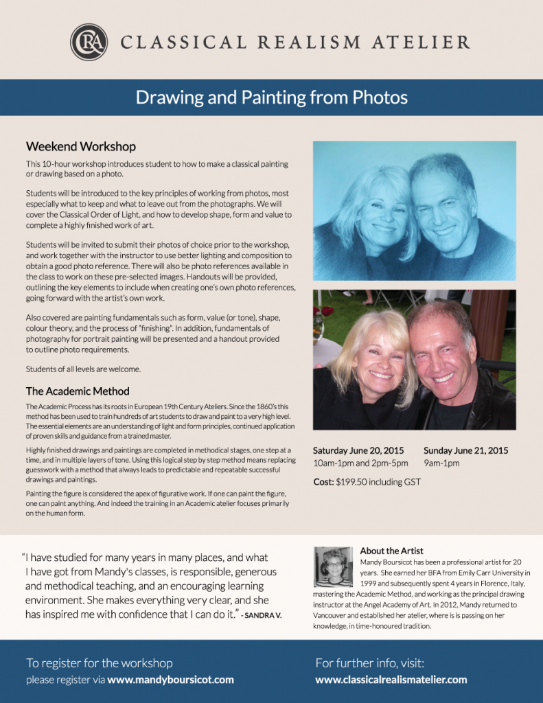 June Weekend Workshop: Drawing and Painting from Photos