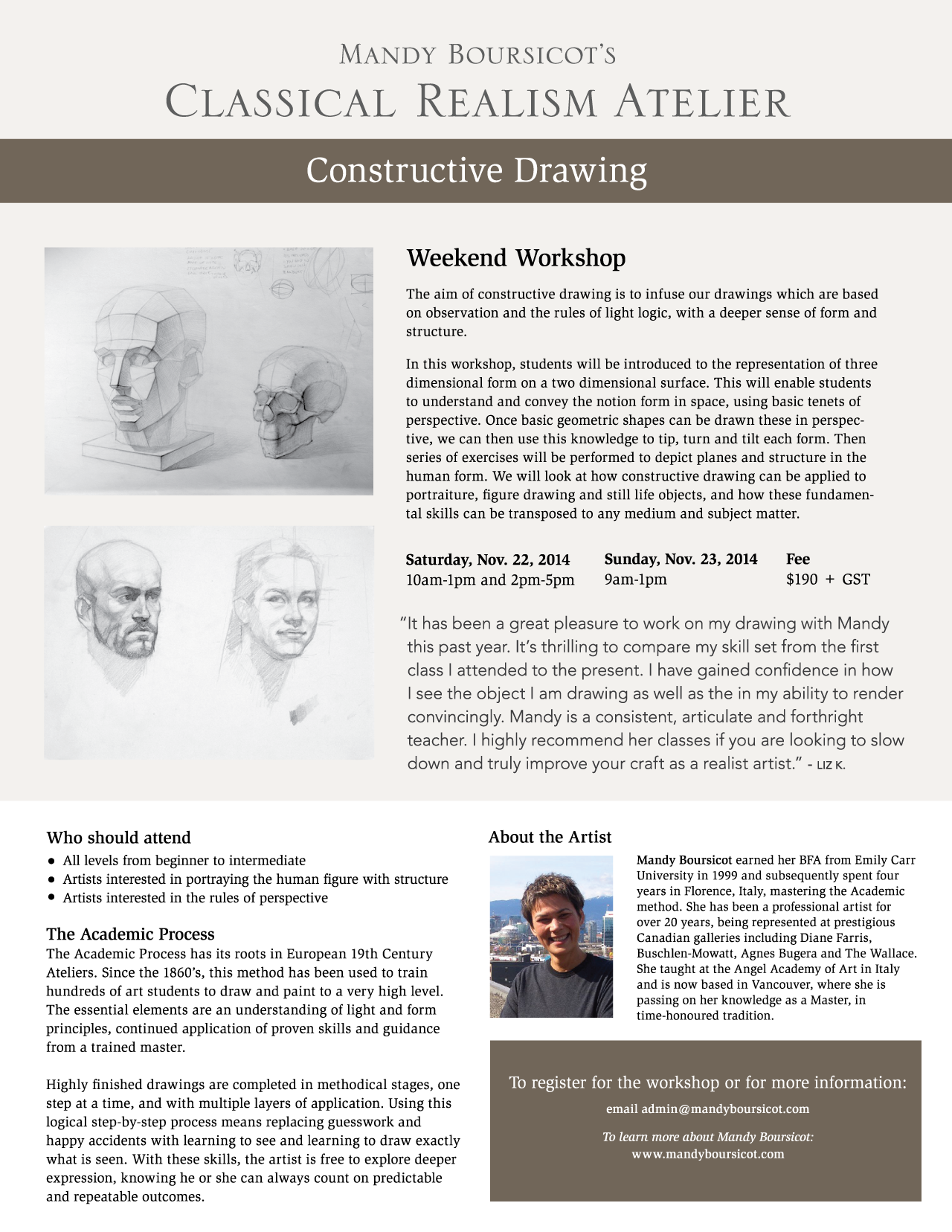 November Weekend Workshop: Constructive Drawing